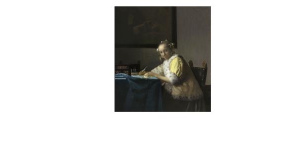 lettre interrompue Vermeer